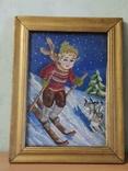 Картина-вышивка. Лыжник., фото №2