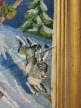 Картина-вышивка. Лыжник., фото №5