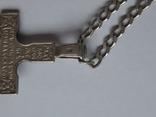 Цепочка с хрестиком, серебро, 16.31 г., фото №6