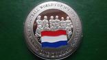 1 доллар 2001 о-ва Кука Футбол Нидерланды серебро (2.3.3)~, фото №2