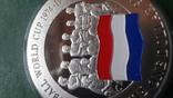 1 доллар 2001 о-ва Кука Футбол Нидерланды серебро (2.3.3)~, фото №4