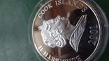 1 доллар 2001 о-ва Кука Футбол Нидерланды серебро (2.3.3)~, фото №8