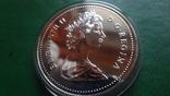1 долларов 1986 Канада Ванкувер Паровоз  серебро (2.4.1)~, фото №5