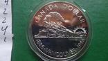 1 долларов 1986 Канада Ванкувер Паровоз  серебро (2.4.1)~, фото №6