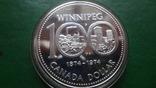 1 долларов 1974 Канада Виннипег  серебро (2.4.3)~, фото №2