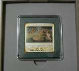 ШЕДЕВРЫ РЕНЕССАНСА - РОЖДЕНИЕ ВЕНЕРЫ - серебро, позолота - ПОЛНЫЙ КОМПЛЕКТ. РЕДКАЯ, фото №3