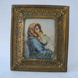 Старая Иконка в бронзовой раме ( Италия ), фото №2