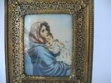 Старая Иконка в бронзовой раме ( Италия ), фото №4