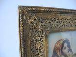Старая Иконка в бронзовой раме ( Италия ), фото №6