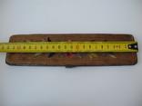 Старинный кожаный аксесуар вышит гладью ( Италия нач ХХ в ) Винтаж, фото №10