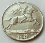1 лек 1931 г. Королевство Албания, фото №2