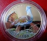 Дрохва 2013 Дрофа монета 2 грн цветная птица флора, фауна