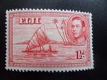 Британские колонии. Фиджи.  марка MLH, фото №2