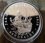 Самоа 10 долларов 1996 г. Серебро. Корабль, фото №2