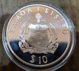 Самоа 10 долларов 1996 г. Серебро. Корабль, фото №3