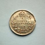 Канада 5 центов 1919 г. - Георг V, фото №3