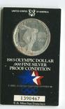 США 1 доллар 1984 XXIII Летние Олимпийские игры 1983 года в Лос-Анжелесе. Монетный двор S, фото №2