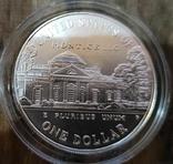 США 1 доллар 1993 г. 250-летие со дня рождения Томаса Джефферсона, Серебро., фото №3
