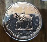 Канада 1 доллар 1973 г. Серебро. Полицейский канадской конной полиции, фото №2
