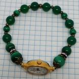 Чайка позолоченная с браслетом из малахита, фото №5
