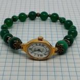 Чайка позолоченная с браслетом из малахита, фото №9