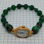 Чайка позолоченная с браслетом из малахита, фото №10