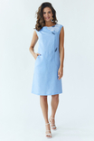 Сукня жіноча Східна квітка (льон блакитний), фото №2