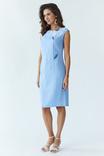 Сукня жіноча Східна квітка (льон блакитний), фото №4