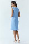 Сукня жіноча Східна квітка (льон блакитний), фото №5