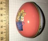 Шкатулка жестяная, пасхальное яйцо, заюшка-хозяюшка, цветы, фото №6