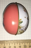 Шкатулка жестяная, пасхальное яйцо, заюшка-хозяюшка, цветы, фото №7