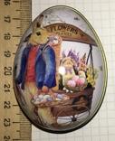 Шкатулка жестяная, пасхальное яйцо, зайцы, морковка / зайці, фото №8
