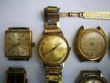15 Часы СССР в позолоте Ау, Au, фото №6