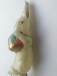 Ёлочная игрушка на прищепке (Заяц барабанщик), фото №6