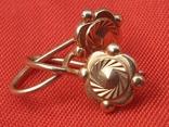 Золотые сережки 585 СССР 2,38гр, фото №5