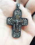 Крест серябряный нательный, фото №2