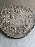 Монета 1593 року. Срiбла(Аg) 2.62 гр., фото №6