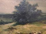 Старинная картина,пейзаж, фото №3