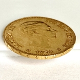 25 песет. 1878. Альфонсо XII. Испания (золото 900, вес 8,07 г) (8.), фото №10
