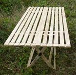Дерев'яний розкладний стіл (1,50 х 0,75 м) 1092150, фото №2
