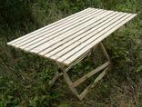 Дерев'яний розкладний стіл (1,50 х 0,75 м) 1092150, фото №3