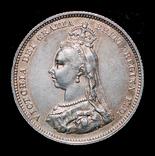 Великобритания шиллинг 1887 серебро, фото №2
