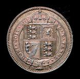 Великобритания шиллинг 1887 серебро, фото №3