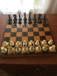 Шахматы карболит доска 37 см, фото №2