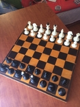 Шахматы карболит доска 37 см, фото №4