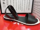 Босоножки кожаныес квадратным носком. Раз. от 36 -- 40. (Черные), фото №2