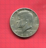 США 50 центов 1967 серебро Кеннеди, фото №2