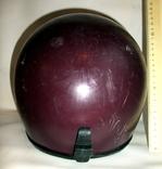 Шлем - каска с защитой для подбородка мотоциклиста из СССР., фото №6
