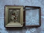 Икона Владимирская Б.М. в окладе и киоте, фото №3