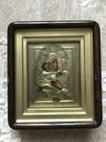 Икона Владимирская Б.М. в окладе и киоте, фото №4